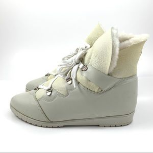 VTG LA CANADIENNE sheep shearling fur ankle boots